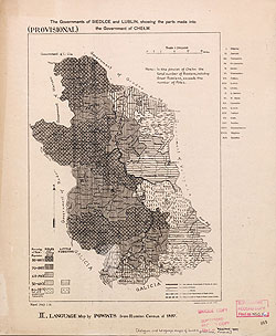 Religion and language maps of Lublin province, Poland no.02
